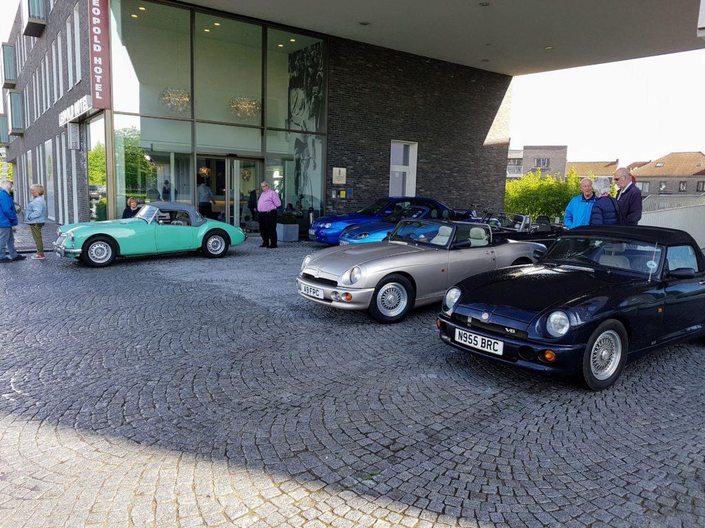 Bob's Twin Cam far left, Roy's RV8 far right - ill fated ZS behind Bob's car